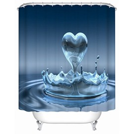 Innovative Design VividHeart-shaped Water 3D Printing Shower Curtain