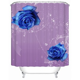 High Class Royalblue Roses 3D Shower Curtain