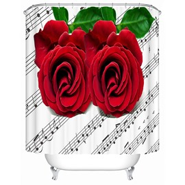 Rose and Stave 3D Shower Curtain