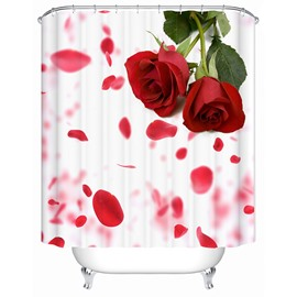 Charming Fancy Fresh Rose 3D Shower Curtain