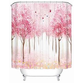Fancy Dreamlike Field Scenery 3D Shower Curtain