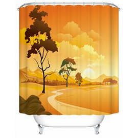 Creative Warm Desert Scenery 3D Shower Curtain