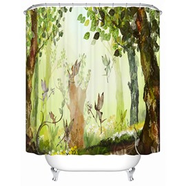 Happy Fairytale-like Spirit World 3D Shower Curtain