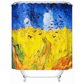 Artistic Design Oil Painting 3D Shower Curtain