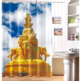 Stunning Traditional Joss Pattern Polyester Shower Curtain