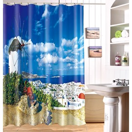 Unique Charming Idyllic Scenery 3D Shower Curtain