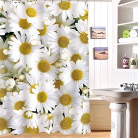 Fresh Style Marguerite Image 3D Shower Curtain