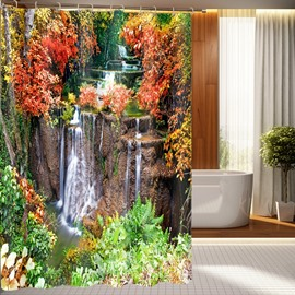 High Quality Marvelous Pastoral Landscape 3D Shower Curtain