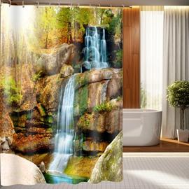 Superb Vivid Waterfall Pattern 3D Shower Curtain