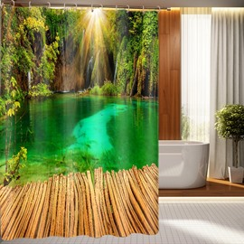 Fantastic Unique Natural Scenery Polyester 3D Shower Curtain