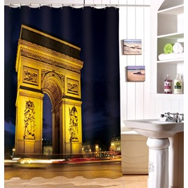 Stylish Design Arch of Triumph Image 3D Shower Curtain
