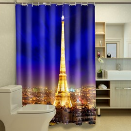 Personalized Night Of The Eiffel Tower In Paris 3D Shower Curtain