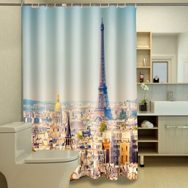 Unique The Eiffel Tower in Paris 3D Shower Curtain