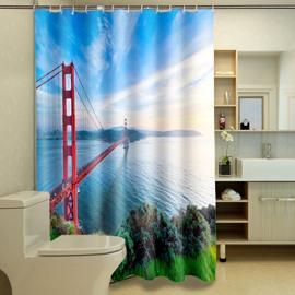 Special Design Golden Gate Bridge Waterproof 3D Shower Curtain