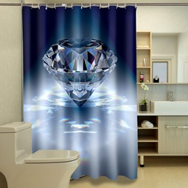 High Quality Bright Diamond Polyester 3D Shower Curtain