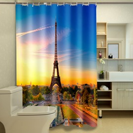 Wonderful Eiffel Tower Print Polyester 3D Shower Curtain
