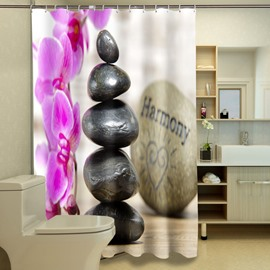 High-grade Unique Style Stones Pattern 3D Shower Curtain