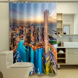 Cityscape Polyester 3D Shower Curtains