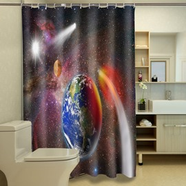 Dreamlike Interstellar Space Polyester 3D Shower Curtain