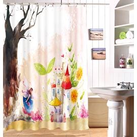 Fantastic Dreamy Castle Waterproof 3D Shower Curtain