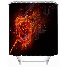Characteristic Fire Rose Print 3D Shower Curtain