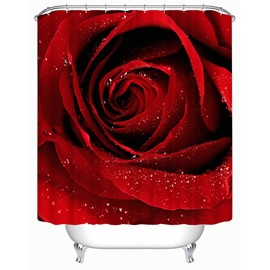 Delicate Red Rose Print 3D Shower Curtain