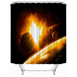 Mysterious Galaxy Print 3D Shower Curtain