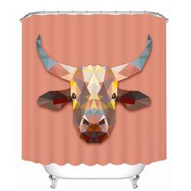 Creative Design Cow Print 3D Bathroom Shower Curtain