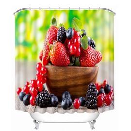 Delicious Fresh Fruits Print 3D Bathroom Shower Curtain