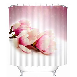 Gorgeous Light Pink Tulips Print 3D Bathroom Shower Curtain