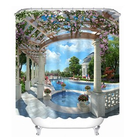 Luxurious Swimming Pool Print 3D Bathroom Shower Curtain