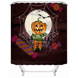 Halloween Jack-O-Lantern Print 3D Bathroom Shower Curtain