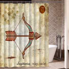 Exotic Sagittarius Symbol Print 3D Bathroom Shower Curtain