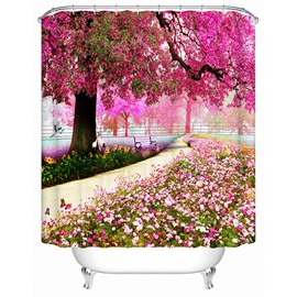 A Trail Beneath Purple Tree Print 3D Bathroom Shower Curtain
