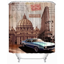 The Spectacular Architecture of Vatican in Rome Print 3D Bathroom Shower Curtain