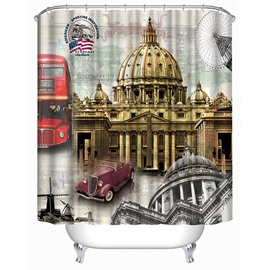 Spectacular Saint Peter's Cathedral Print 3D Bathroom Shower Curtain