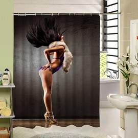 Sexy Woman with Purple Bikini Dancing Printing 3D Shower Curtain