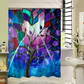 Gorgeous Tree with Colored Leaves Printing 3D Shower Curtain