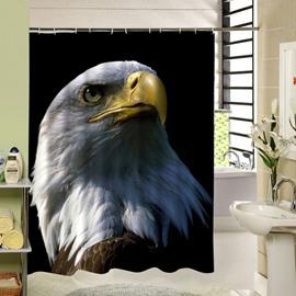 A Powerful Eagle Face Printing 3D Bathroom Decor Shower Curtain