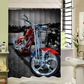 Cool Red Motorcycle Printing 3D Waterproof Shower Curtain