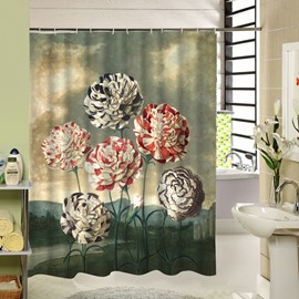 Colored Hydrangea Printing 3D Bathroom Decor Shower Curtain