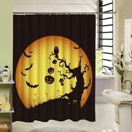 Weird Shadow of the Trees Halloween Poster 3D Printing Shower Curtain