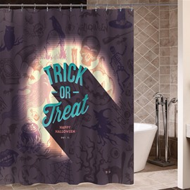 Cute Trick or Treat Theme 3D Printing Waterproof Shower Curtain