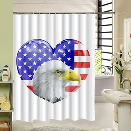 American Bald Eagle Printing 3D Waterproof Polyester Shower Curtain