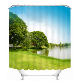 Pretty Quiet Lake Scenes Printing Bathroom 3D Shower Curtain