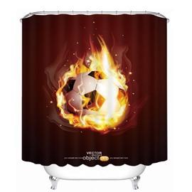 Magic Fire Soccer Printing Christmas Theme Bathroom 3D Shower Curtain