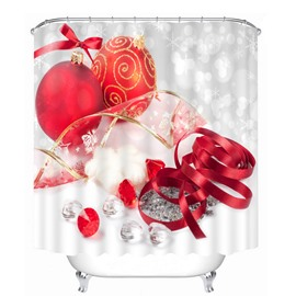 Christmas Decors Printing Christmas Theme 3D Shower Curtain