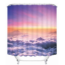 The Scenery over the Cloud Printing Bathroom 3D Shower Curtain