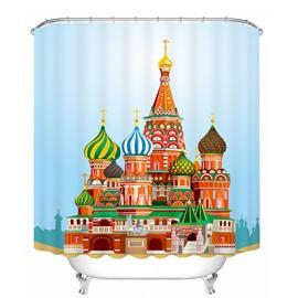 The Castle in the Fairy Tale Printing Bathroom 3D Shower Curtain