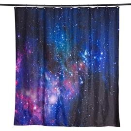 3D Galaxy Printed Polyester Dark Blue Bathroom Shower Curtain